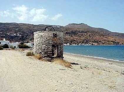 ANDROS PHOTO GALLERY - WINDMILL IN MYLOS BEACH IN ORMOS