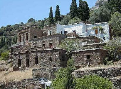 Old houses in Piskopeio (Paleokastro) ANDROS PHOTO GALLERY - PISKOPEIO