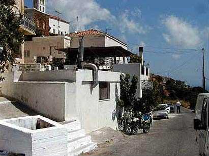 Main street in Syneti ANDROS PHOTO GALLERY - SYNETI