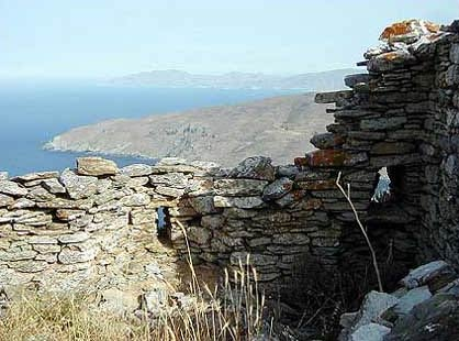 Fortification in Kastro Faneromenis ANDROS PHOTO GALLERY - FANEROMENIS CASTLE