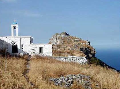 Faneromeni church in the Castle ANDROS PHOTO GALLERY - FANEROMENIS CASTLE