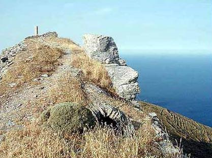 The view of the Aegean Sea from the Castle ANDROS PHOTO GALLERY - FANEROMENIS CASTLE